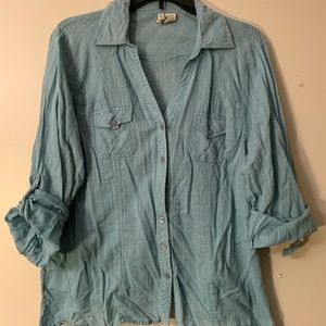 Button down blouse shirt by Love Potion Large